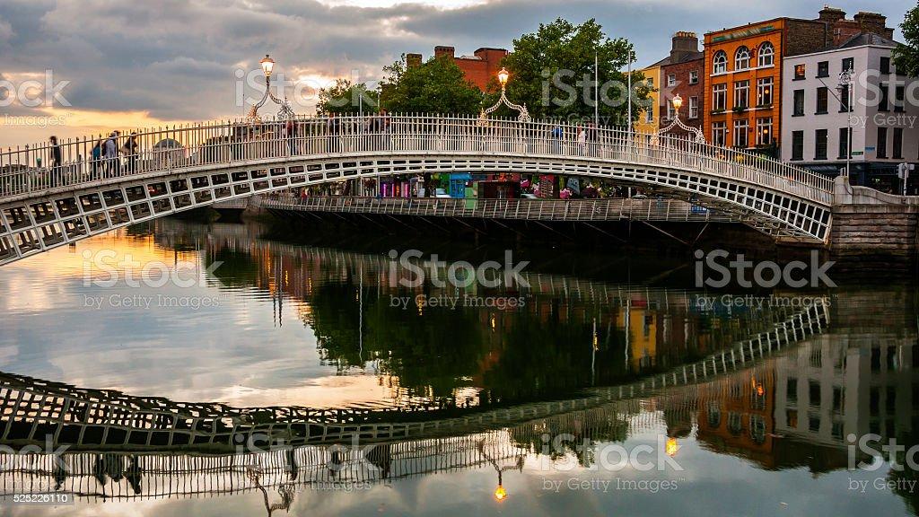 Ha Penny Bridge in Dublin, Ireland stock photo