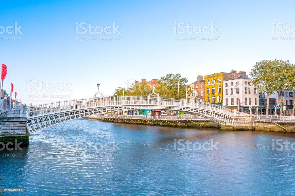 Ha penny Bridge in Dublin stock photo