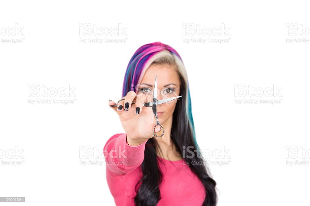 Haarschnitt stock photo