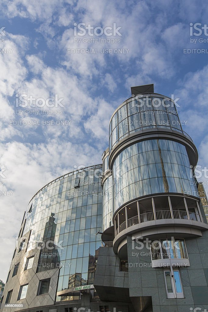 Haas House in Vienna stock photo