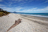 Haast beach on the South Island of New Zealand
