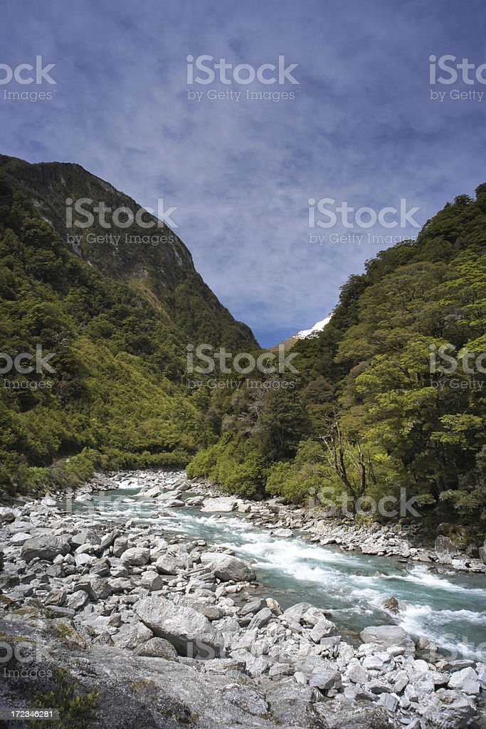 Haast Pass On New Zealand's South Island stock photo