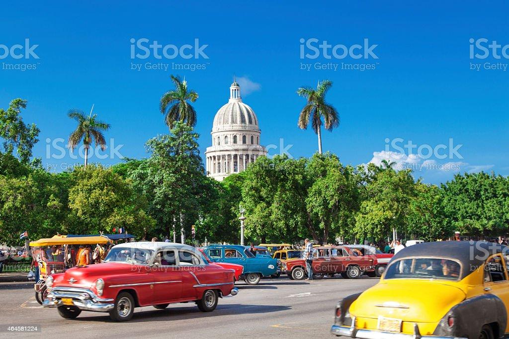 Habana Old City in Cuba stock photo