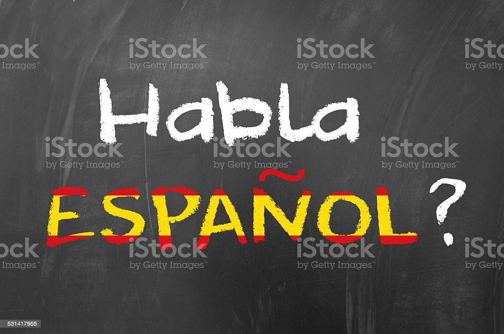 Habla espanol stock photo
