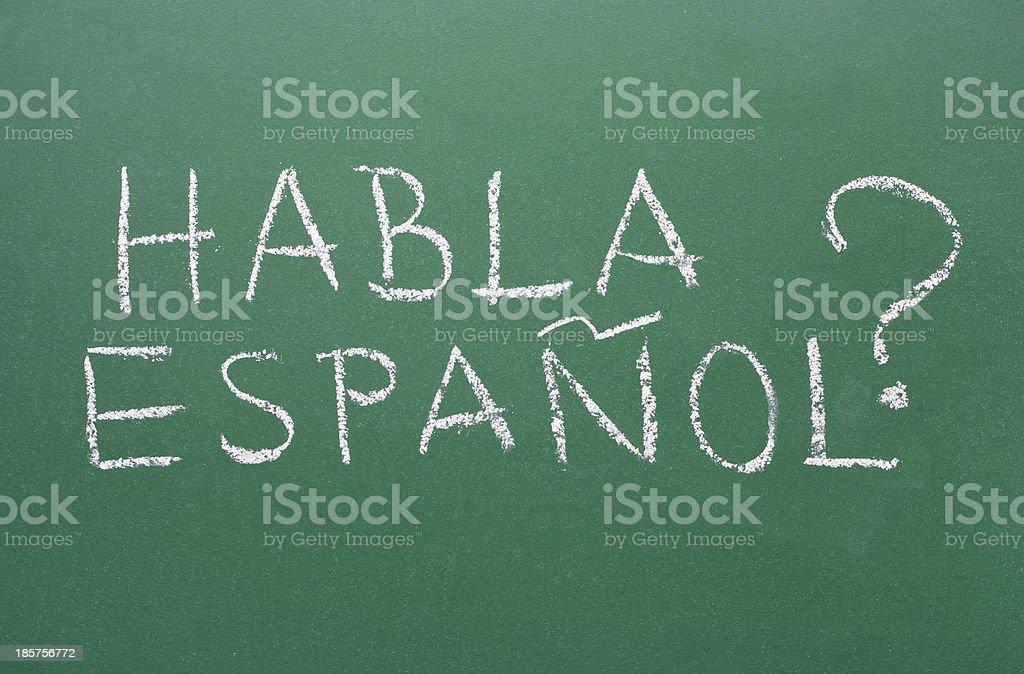 Habla Espanol - Speaking Spanish? stock photo