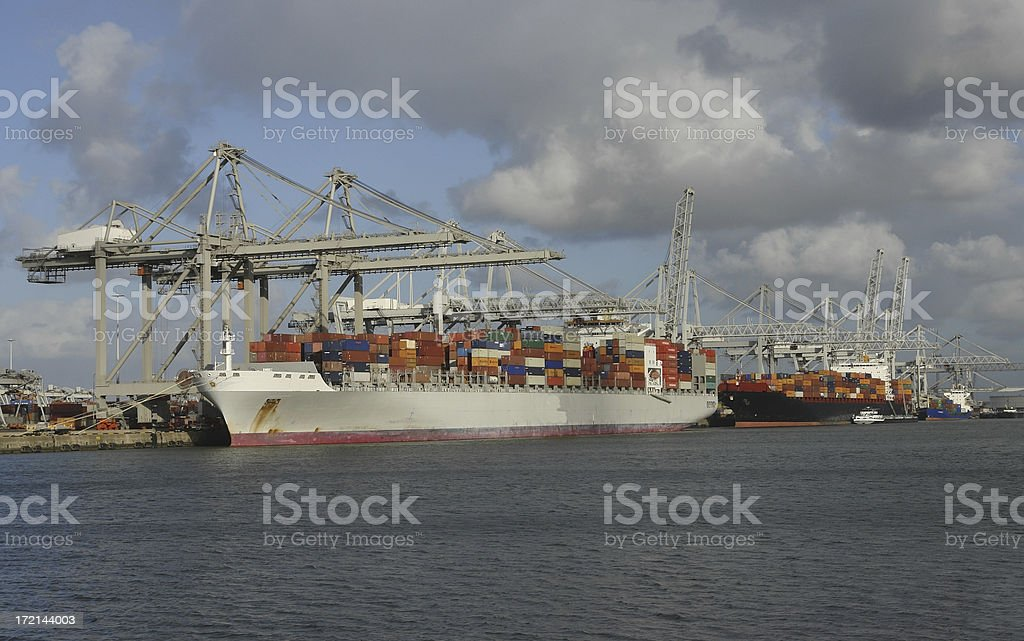 Container habour royalty-free stock photo