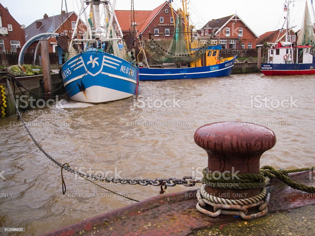 Habour of Neuharlingersiel stock photo