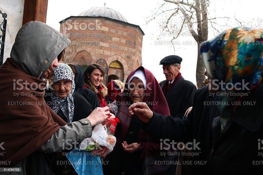 Hacı Bayram Grab in Ankara Lizenzfreies stock-foto