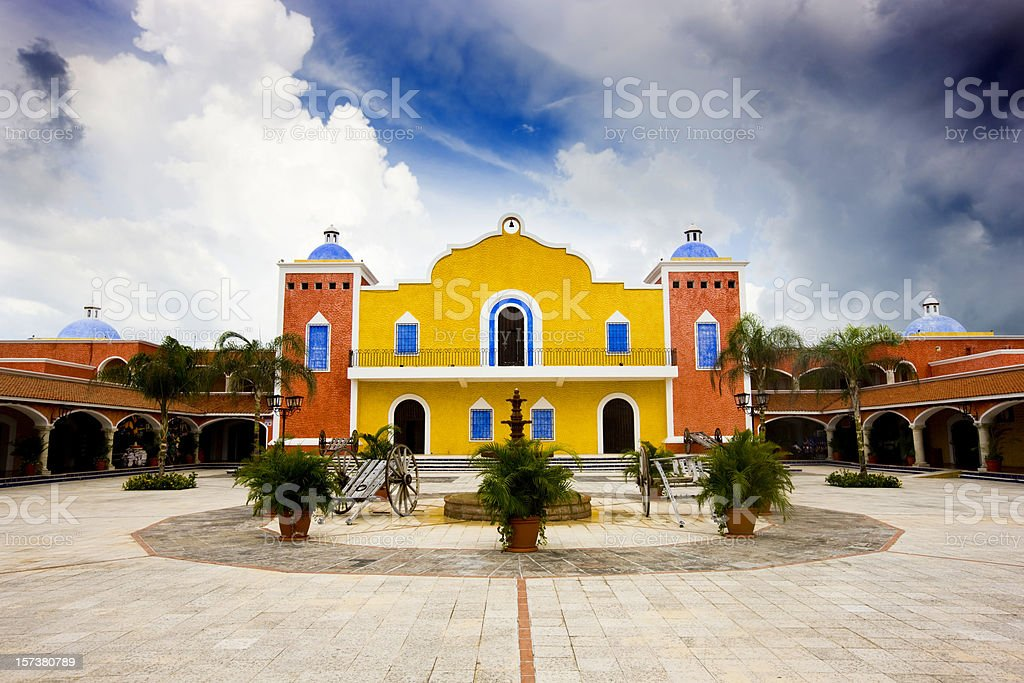 Hacienda stock photo
