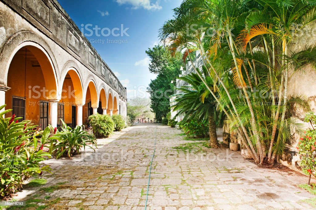 Hacienda Yaxcopoil stock photo