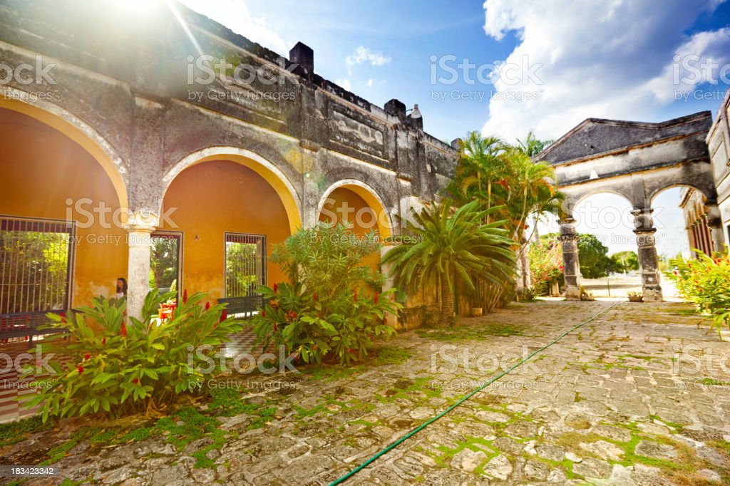 Hacienda Yaxcopoil stock photo
