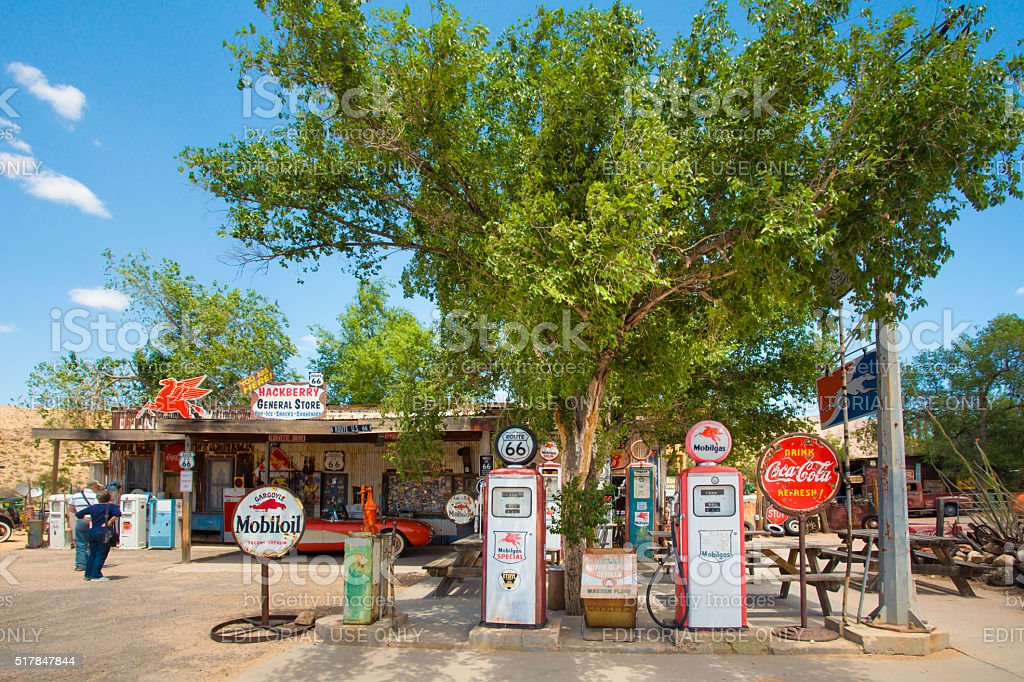 Hackberry Route 66 stock photo