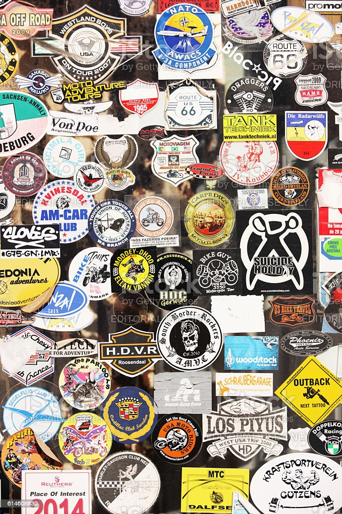 Hackberry Store Vintage Tourist Stickers Route 66 stock photo