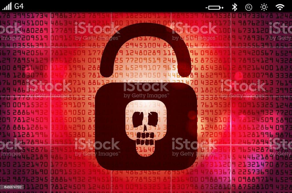 hacked computer stock photo