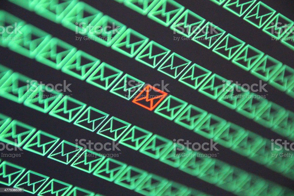 Hacked email account stock photo