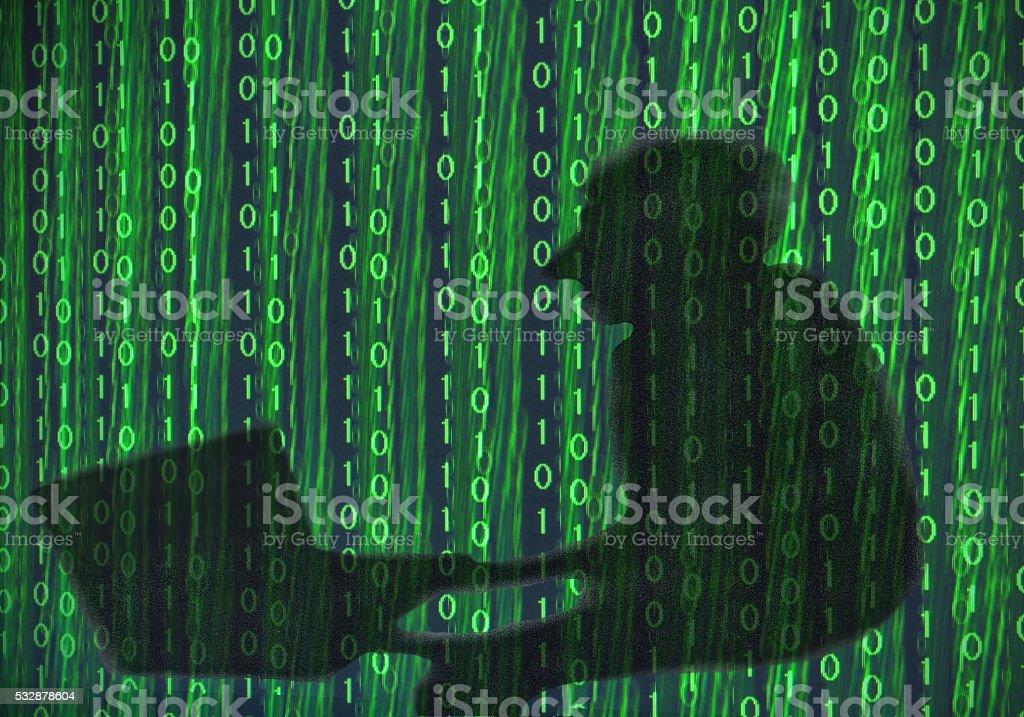 Hacked stock photo