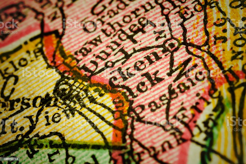Hackensack | New Jersey on an Antique map stock photo