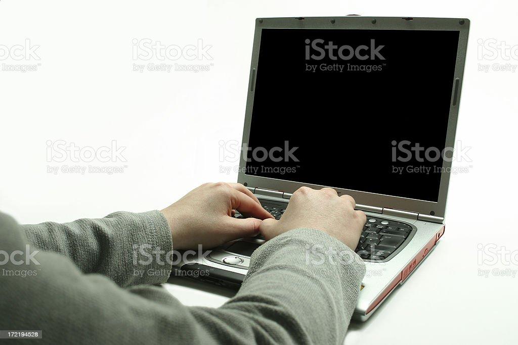 Hacker at work 2 royalty-free stock photo