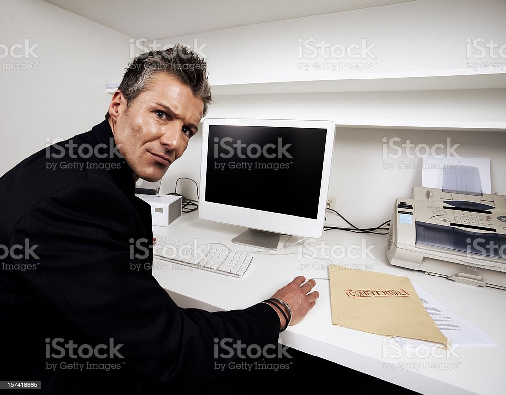 Hacker at Work royalty-free stock photo
