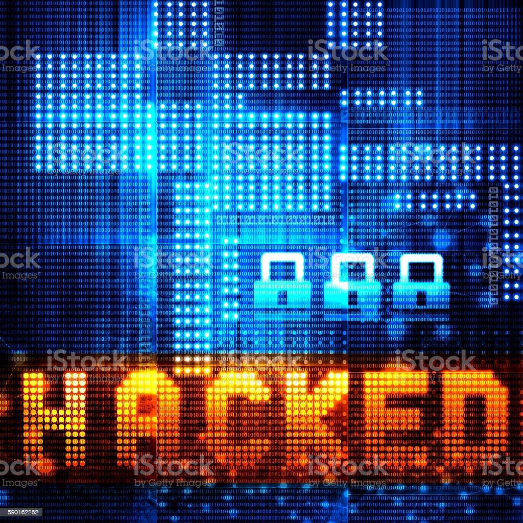 Hacker attack concept stock photo
