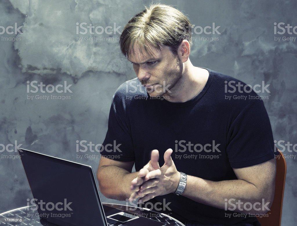 Hacker getting ready royalty-free stock photo