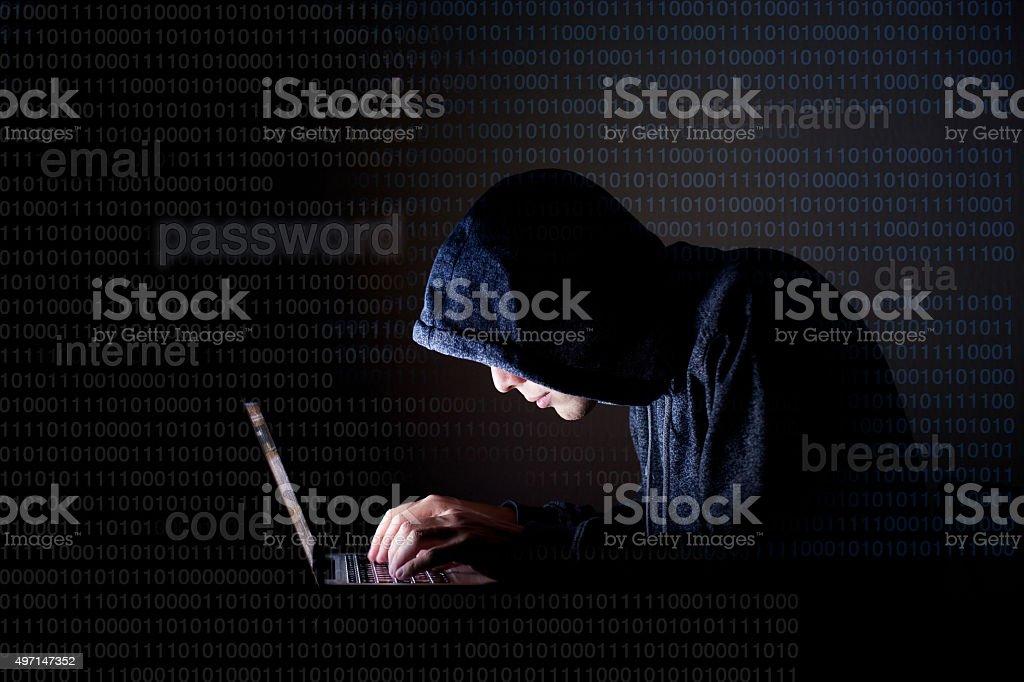 hacker, internet security concept stock photo