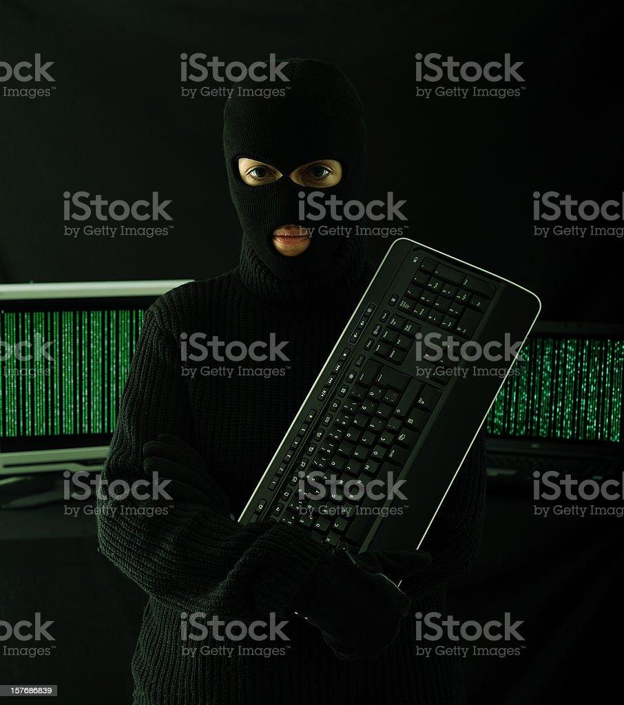 Hacker royalty-free stock photo