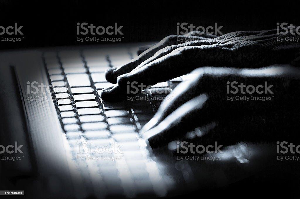 Hacker! stock photo