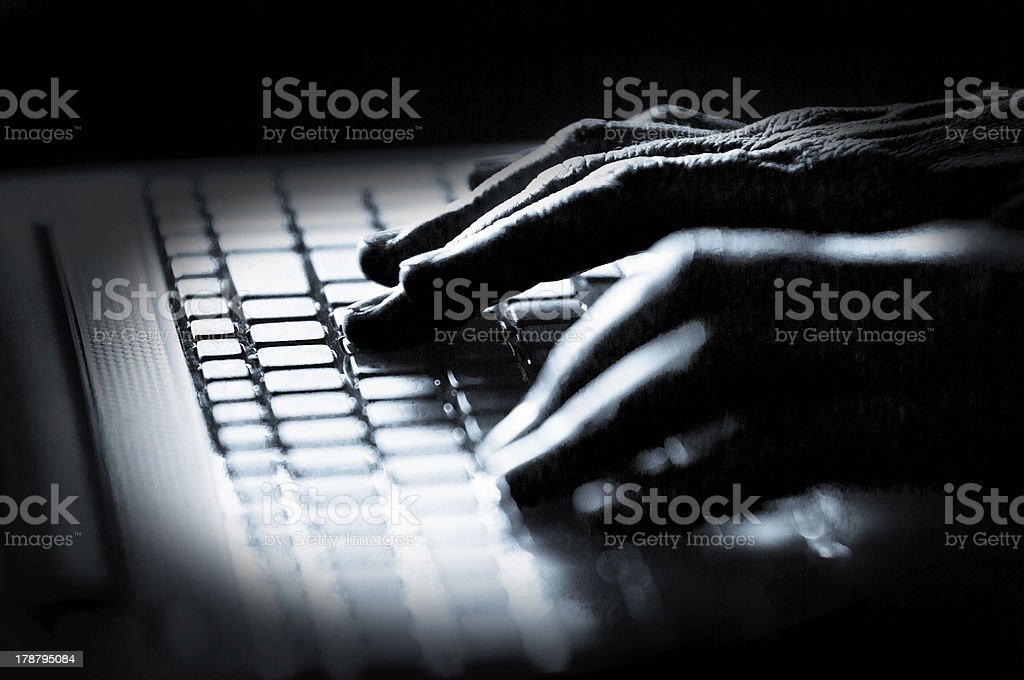 Hacker! stock photo
