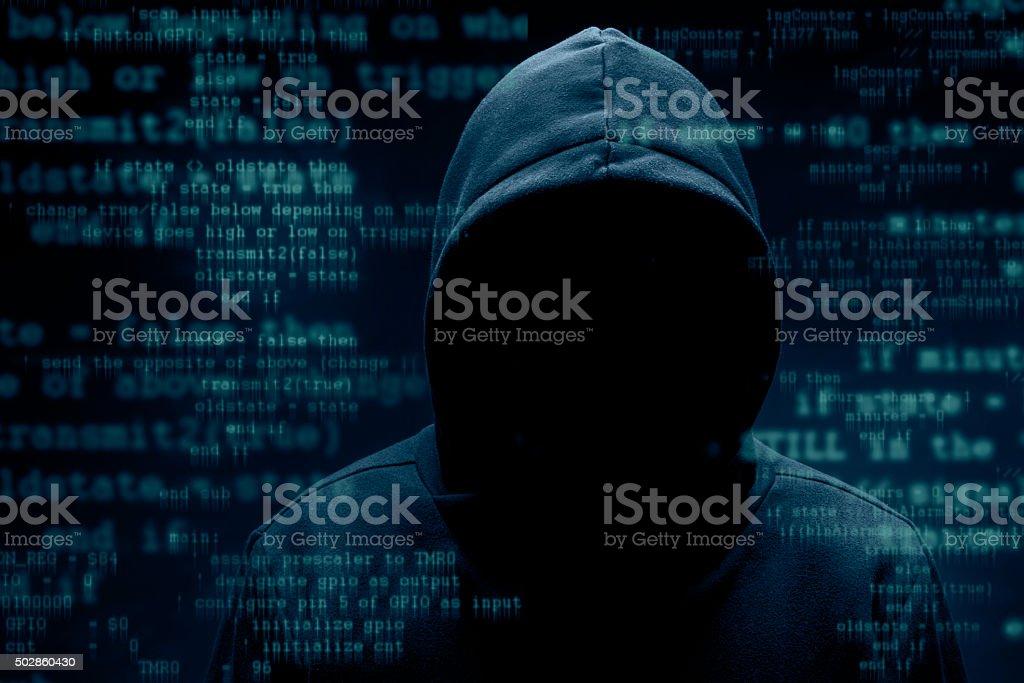 Hacker stock photo