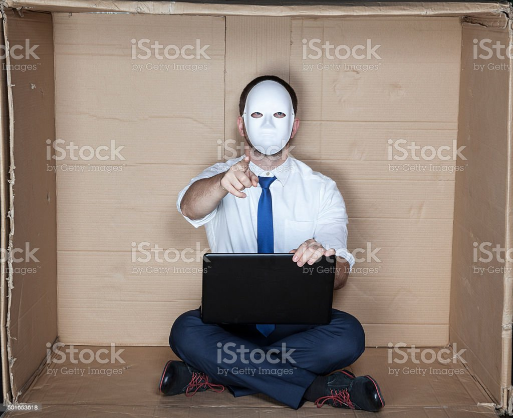 hacker pointing at you stock photo