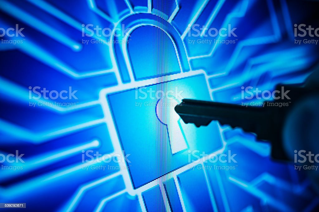 hacker try to break a computer systems stock photo