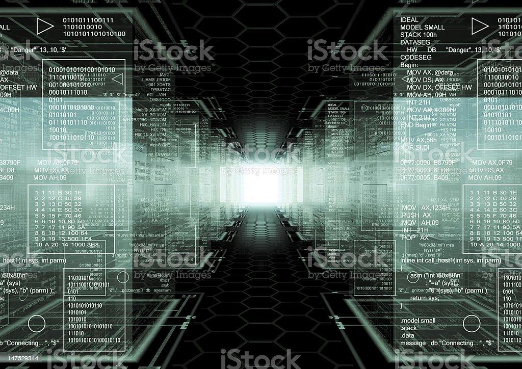 Hacker world royalty-free stock photo