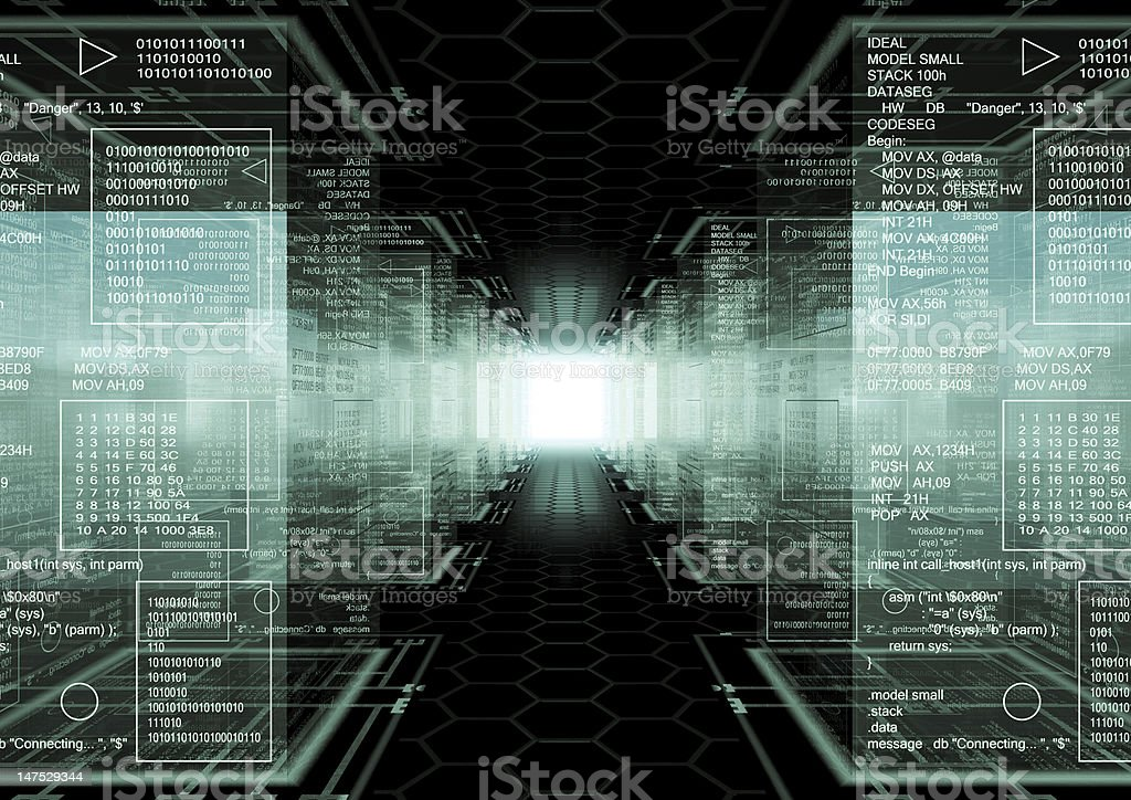 Hacker world stock photo