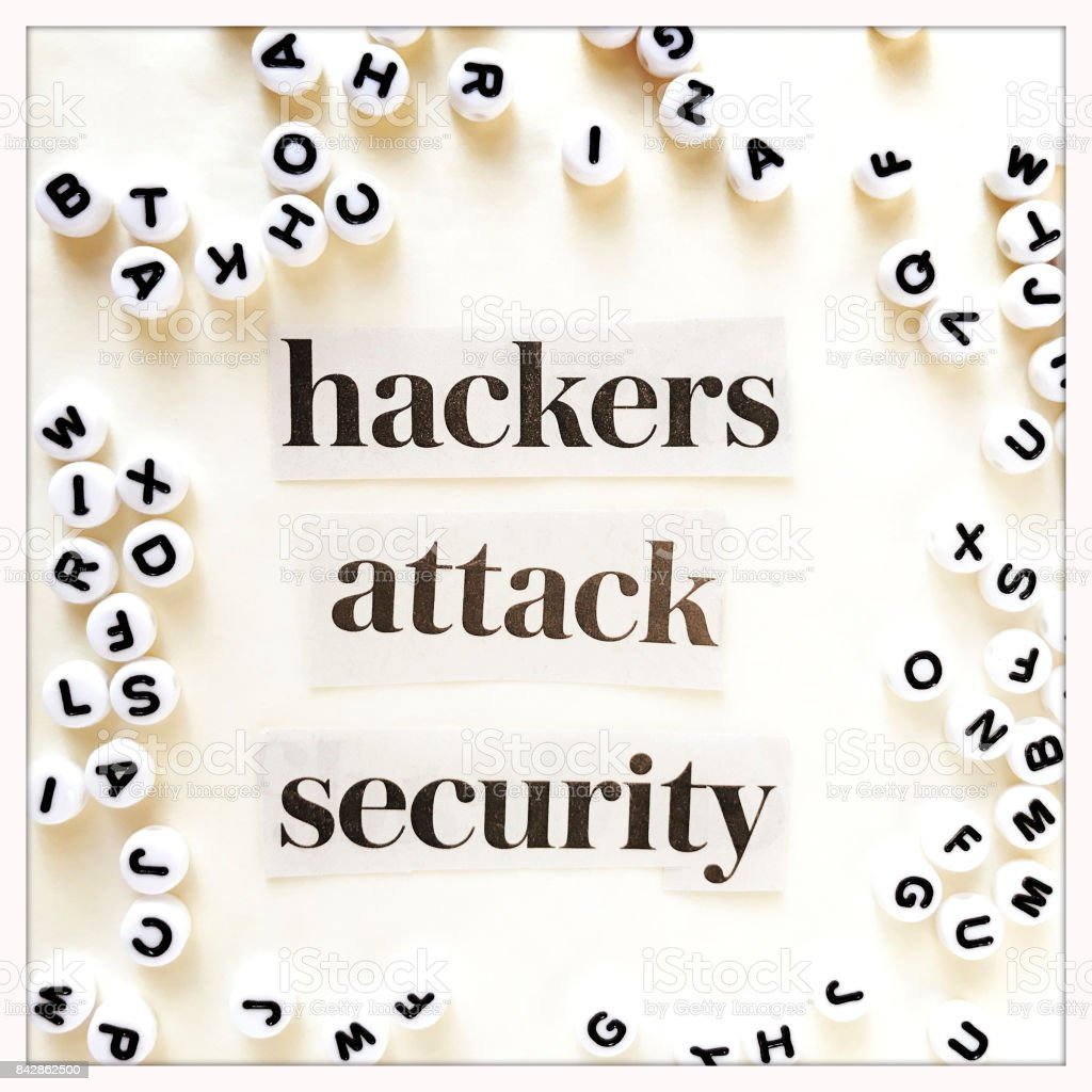 Hackers Attack Security Conept stock photo