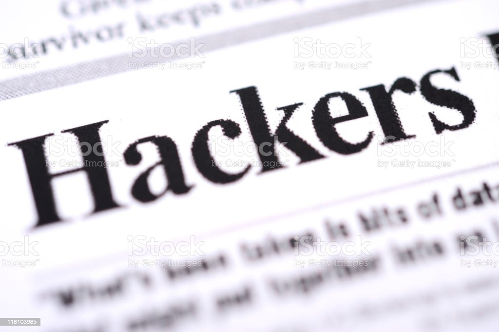 Hackers headlines royalty-free stock photo