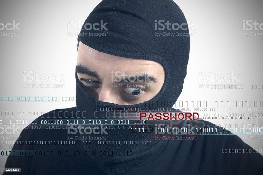 Hackers reveal a password royalty-free stock photo
