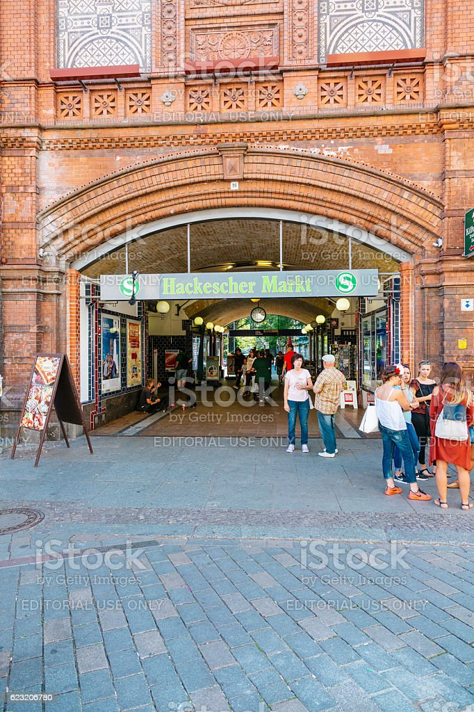 Hackesche Markt (Hoefe) train station, Berlin. stock photo