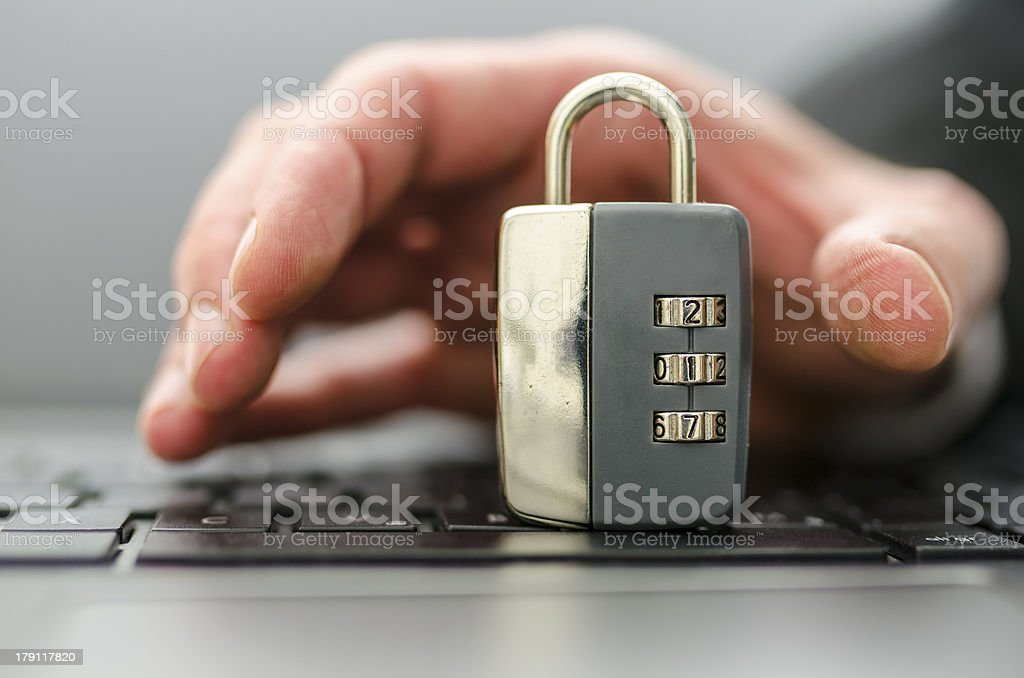 Hacking royalty-free stock photo