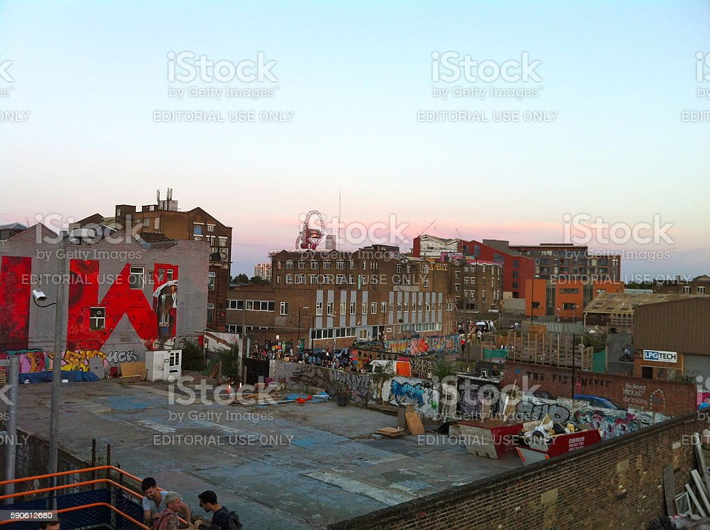 Hackney Wick urban skyline stock photo