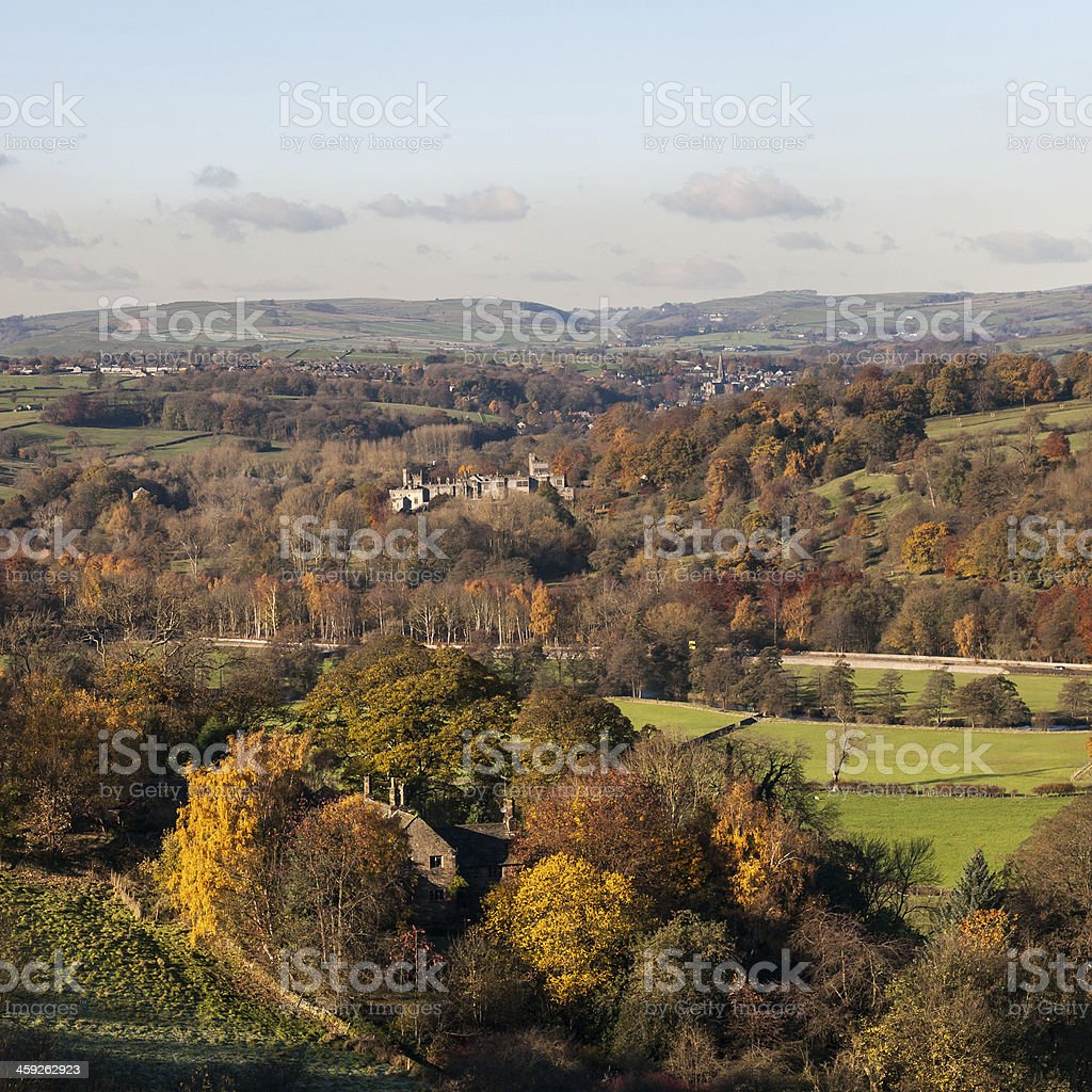 Haddon Hall to Bakewell stock photo