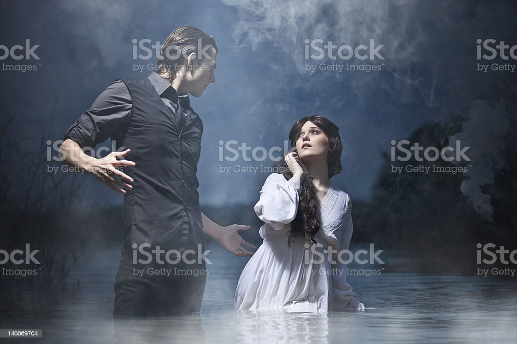 Hades & Persephone: The Encounter stock photo