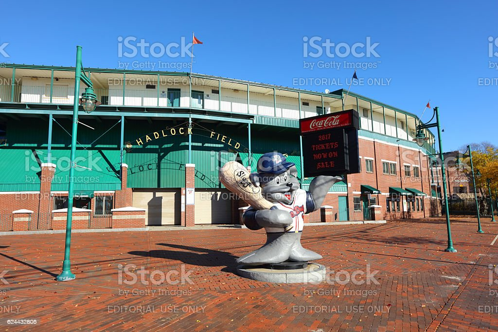 Hadlock Field in Portland Maine home of the Portland Sea Dogs stock photo