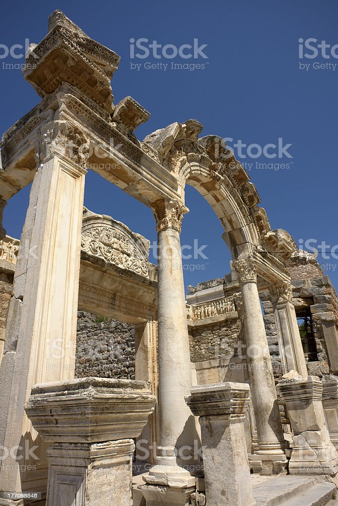 Hadrian Arch (Ephesus) stock photo