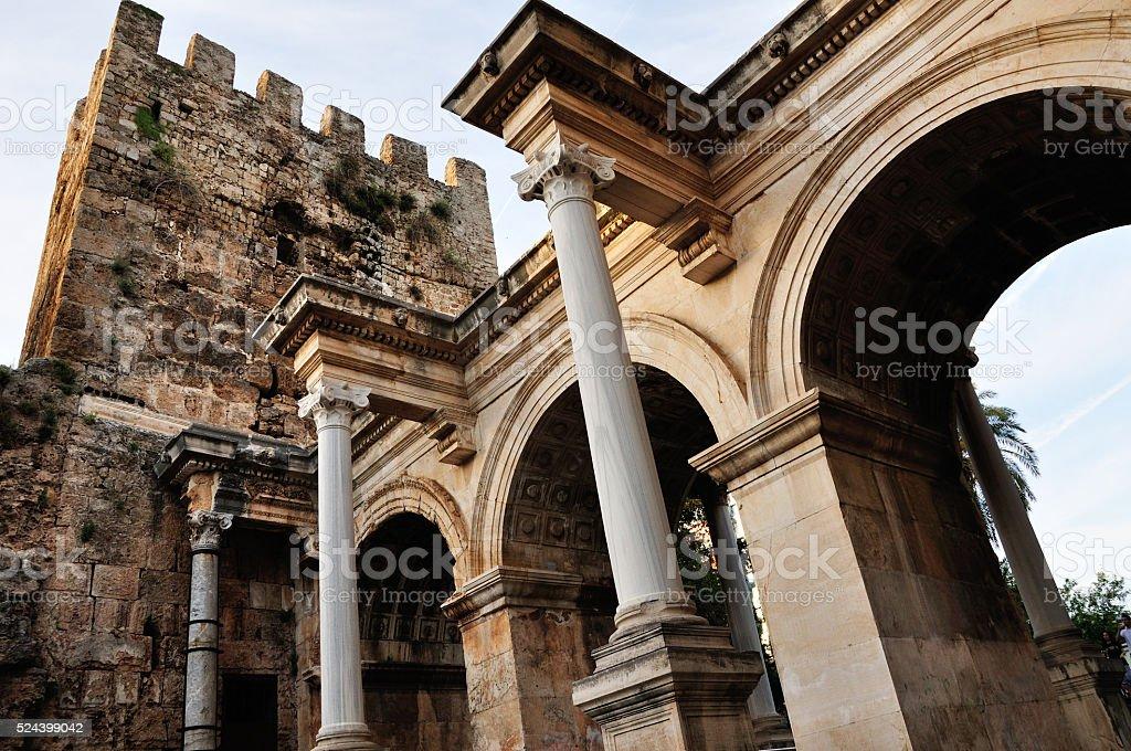 Hadrian Gate stock photo