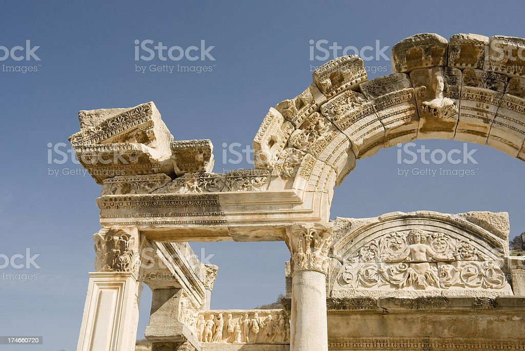Hadrian Temple, Ephesus royalty-free stock photo