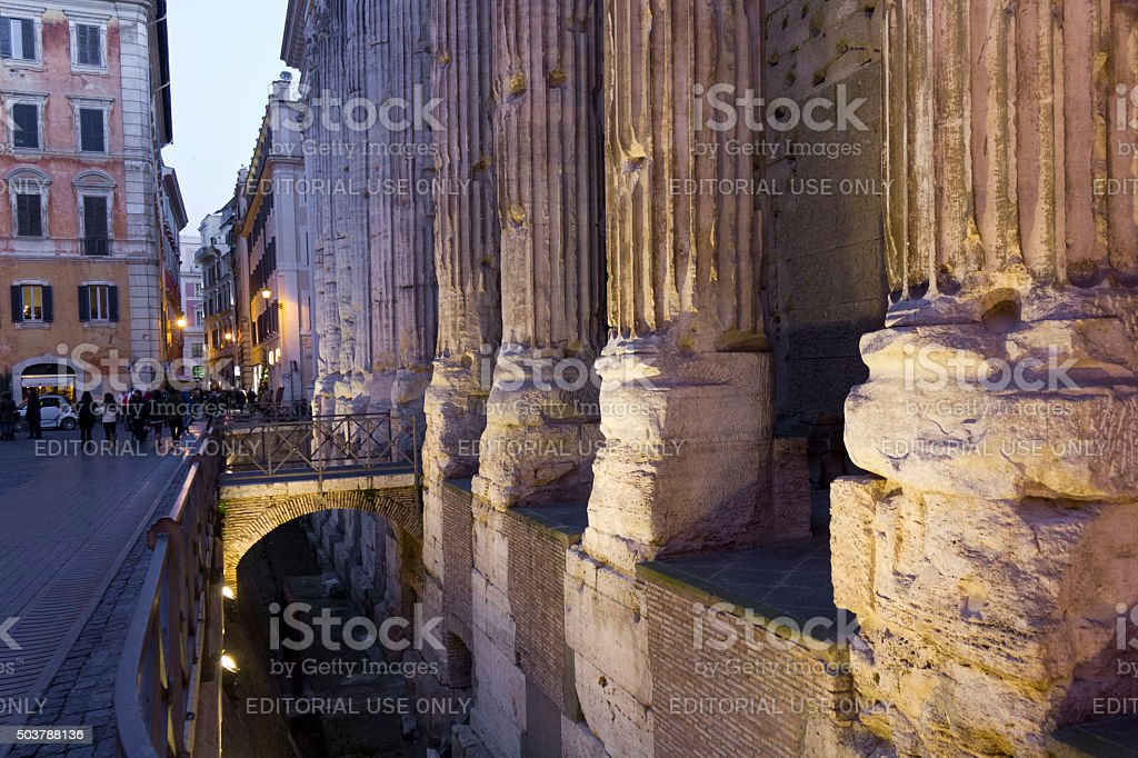 Hadrian Temple in Rome stock photo