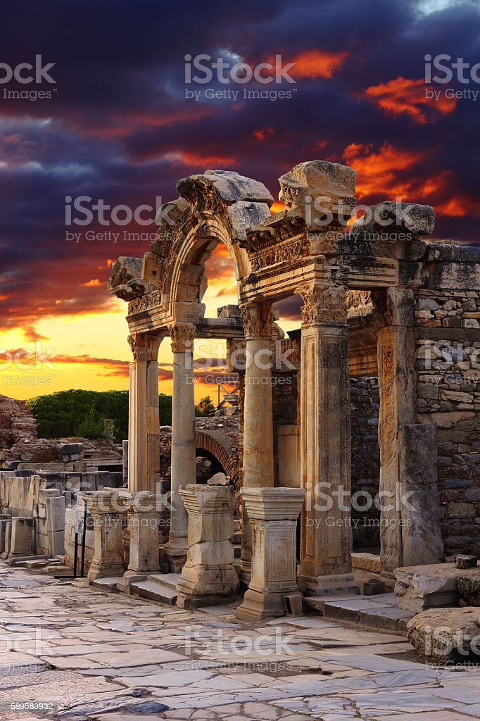 Hadrian Temple stock photo
