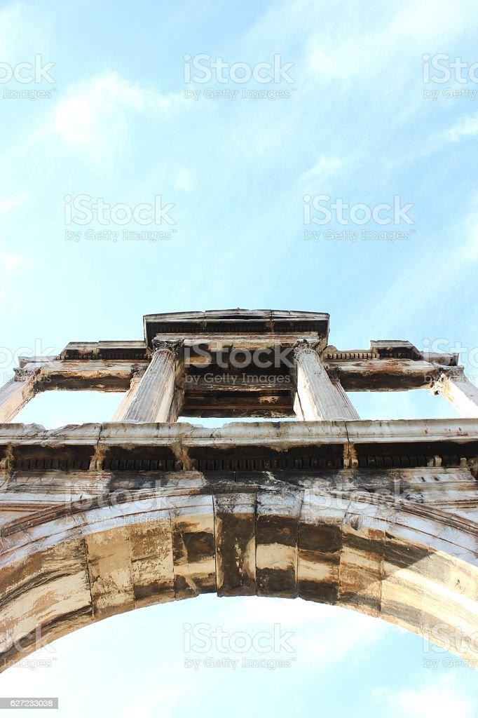 Hadrian`s Gate stock photo