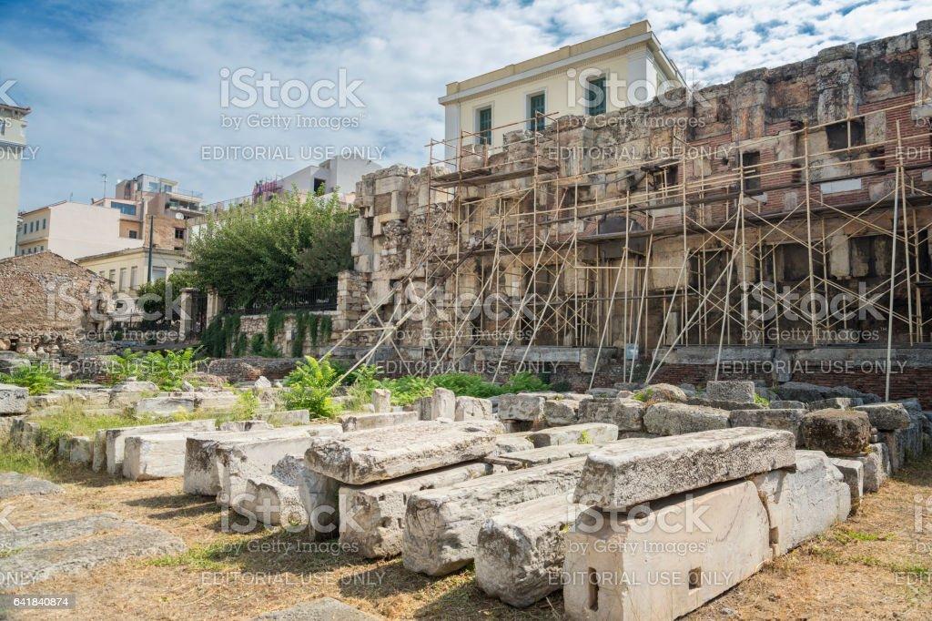 Hadrian's Library, Athens, Greece stock photo